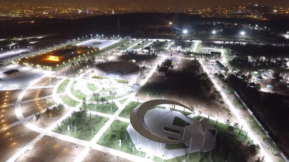 RPS2 Park Armatürü Türk Telekom Sosyal Tesisleri Aydınlatması